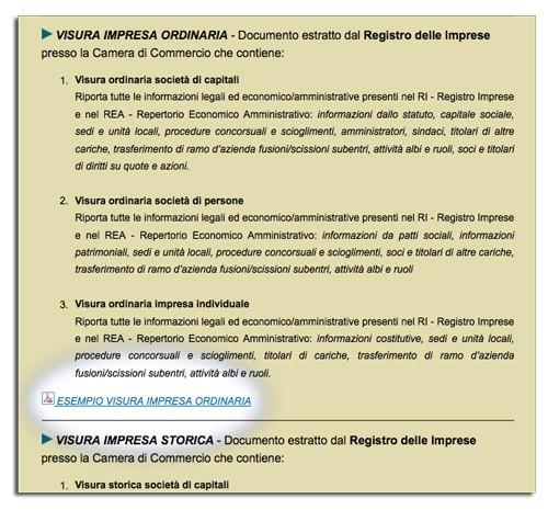 esempi di indagini per recupero crediti, informazioni commerciali